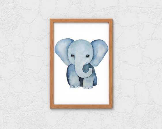 QUADRO DECORATIVO INFANTIL CUTE ELEPHANT