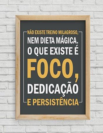 Quadro Decorativo Frases NÃO EXISTE TREINO MILAGROSO