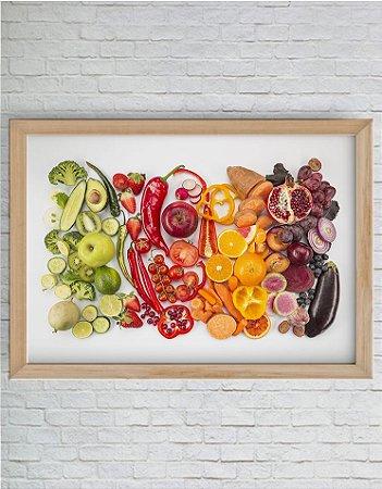 Quadro Decorativo Misto de Legumes Degradê