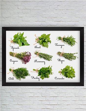 Quadro Decorativo Verduras Diversas