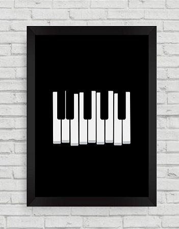 QUADRO DECORATIVO TECLAS DE PIANO