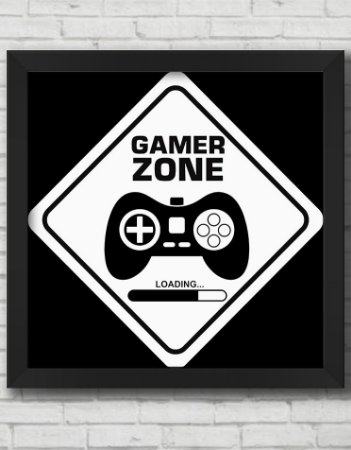 QUADRO DECORATIVO GAMER ZONE
