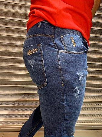 Calça Jeans Casual Filho Rico Skinny