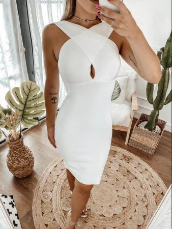 Vestido Bandagem Branco - Médio