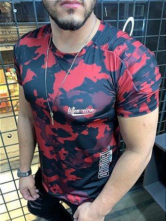 Camiseta Camuflada Premium Filho Rico - Vermelho