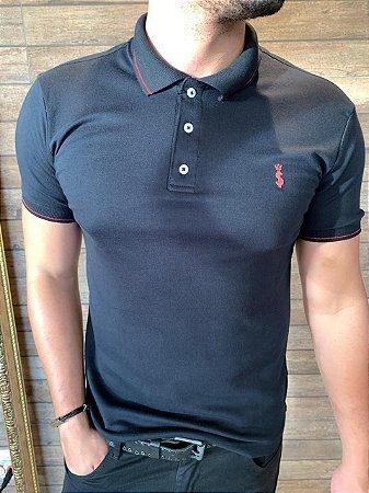 Camiseta Polo Premium Verão 2021- Preto