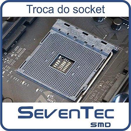 Troca do Socket Asus ROG STRIX B350-F GAMING