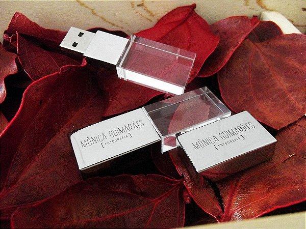 Pendrive Cristal Para Fotógrafos - 8GB, 16GB, 32GB