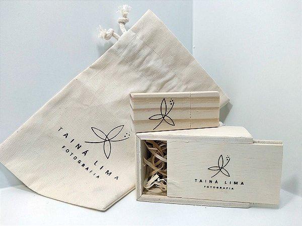 Kit Pendrive Wood Bag personalizado - Pendrives para Fotógrafos