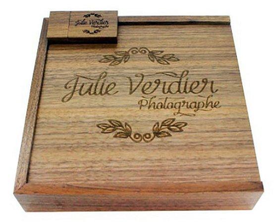 Kit Pendrive Wood Wedding - Para Fotógrafos