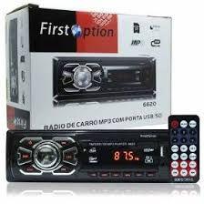 Auto Rádio Som Mp3 Player Automotivo Carro First Option 8850 Fm Sd Usb Controle