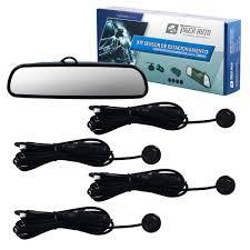 Kit Espelho Retrovisor Camera E Sensor Estacionamento