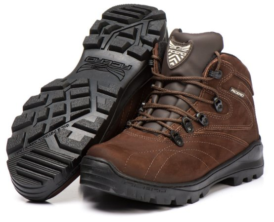 Bota Acero Trekking Adventure Couro Animal - Café