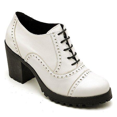 Sapato Oxford Feminino - Branco