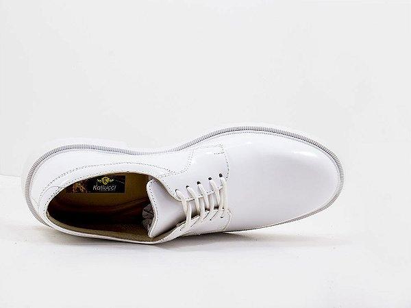 Sapato Social Militar Marinha Branco