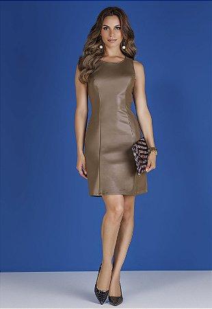 Vestido Glam de Couro