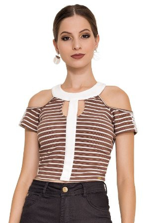 CROPPED STRIPE COM RECORTE