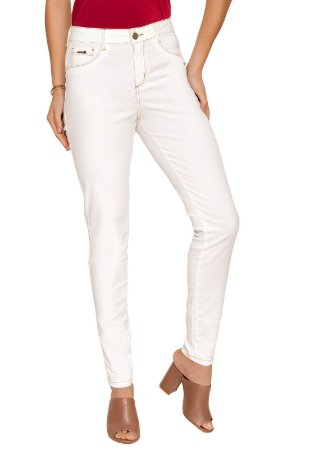 CALÇA SKINNY COLOR OFF WHITE