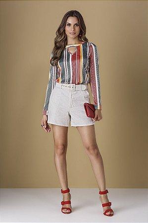 Blusa Shine Stripe Golden