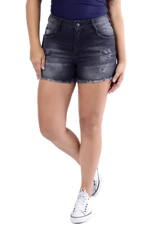 SHORTS STAY COM ZÍPER PRETO