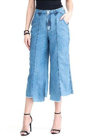Calça Jeans Cropped Fashion