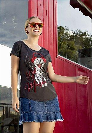 T-shirt Cat com Bordado