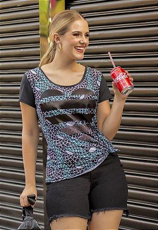 T-Shirt Animal Print com Termocolante