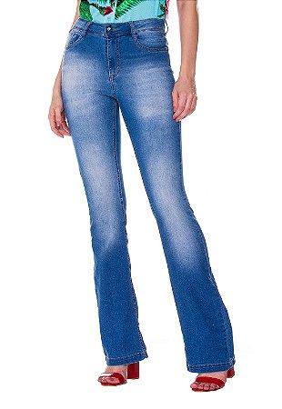 Calça jeans bootcut Rosa K