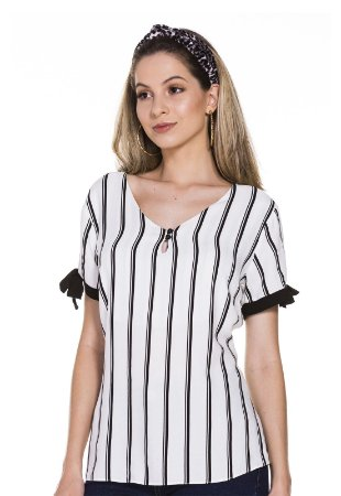 Blusa com detalhe laço Moça de Pano