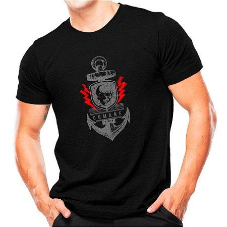 Camiseta Militar Estampada Comandos Anfíbios