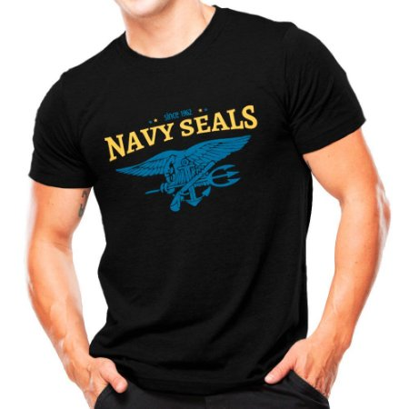 Camiseta Militar Estampada Navy Seals