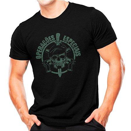 Camiseta Militar Estampada Operações Especiais