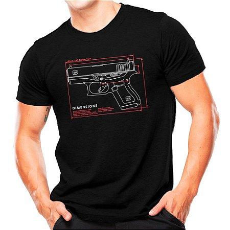 Camiseta Militar Estampada Glock G43