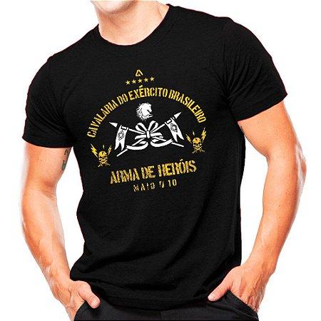 Camiseta Militar Estampada Cavalaria do Exército Brasileiro