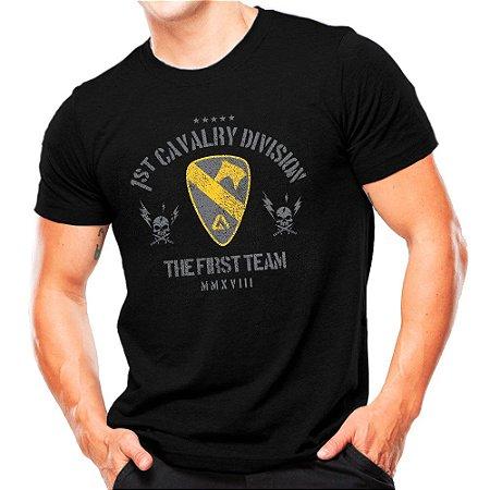 Camiseta Militar Estampada Cavalaria dos EUA