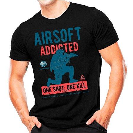 Camiseta Militar Estampada Airsoft One Shot