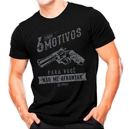 Camiseta Militar Estampada 6 Motivos