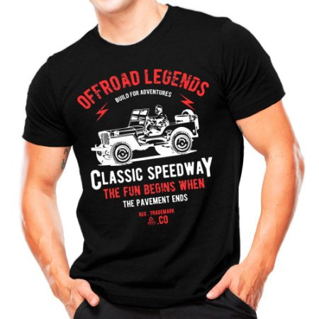 Camiseta Militar Estampada Off Road Legends
