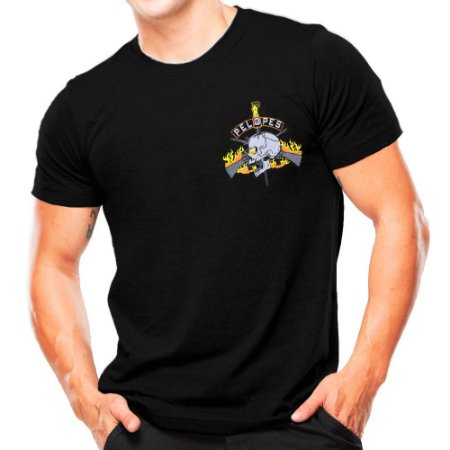Camiseta Militar Estampada Pelopes