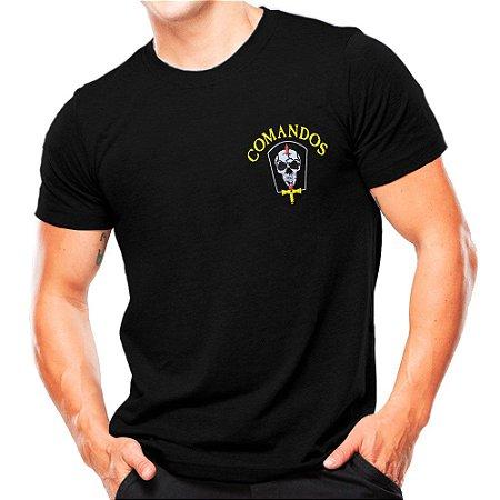 Camiseta Militar Estampada Comandos