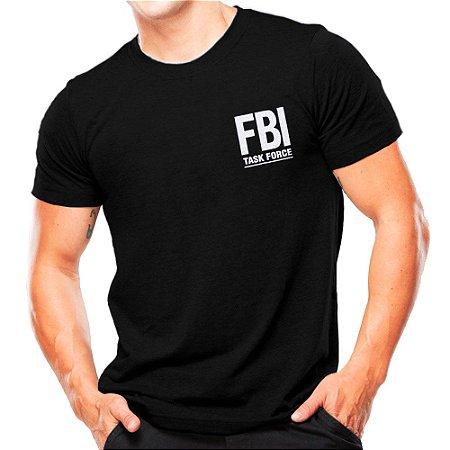 Camiseta Militar Estampada FBI