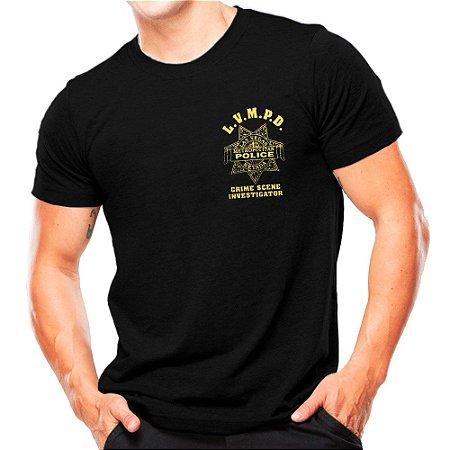 Camiseta Militar Estampada C.S.I.
