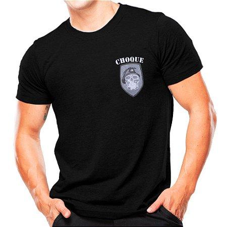 Camiseta Militar Estampada Choque