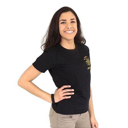 Camiseta Feminina Militar Baby Look Estampada CSI
