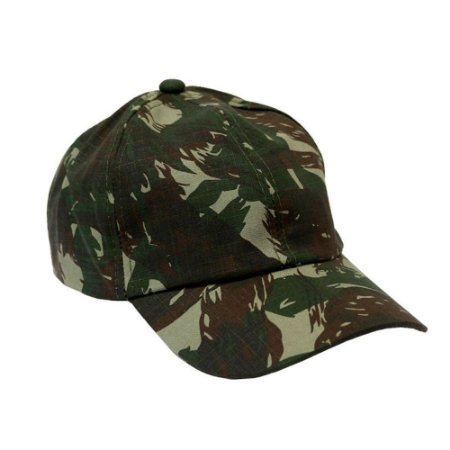 Boné Militar Rip Stop Liso Camuflado