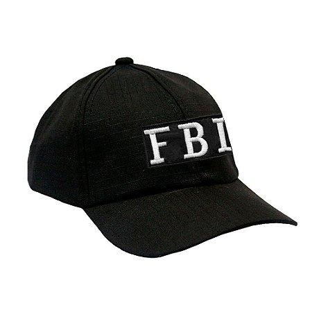 Boné Militar Rip Stop Com Patch Aplicado FBI