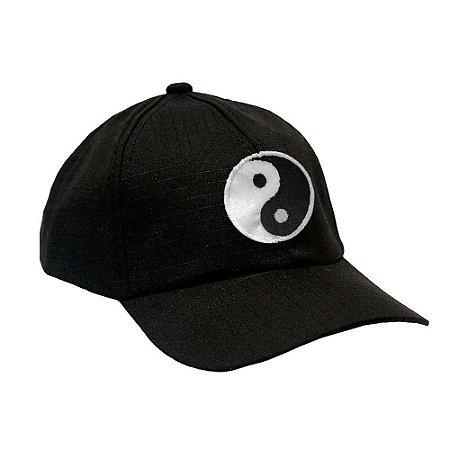 Boné Militar Rip Stop Com Patch Aplicado Yin & Yang