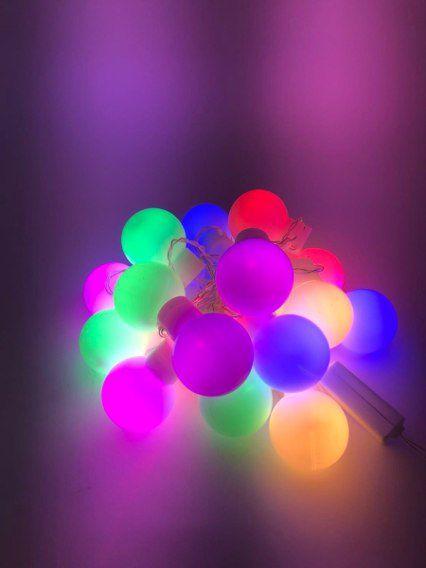 Enfeite Cordão de LED Bolinha