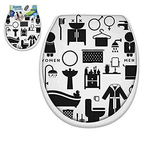 Assento Sanitário Almofadado Decorado Clink ( Vários modelos)