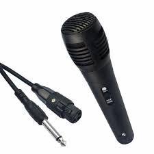 Microfone Dinâmico De Mão Com Fio Plug P10